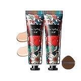 Prebase Facial Impecable, Base de Maquillaje en Crema, Invisible Pore Makeup Base Primer, Piel Suave, Corrector de Esencia Hidratante Para Iluminar el Tono de La Piel con Esponja de Maquillaje (03)