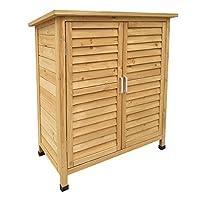 Un deposito aggiuntivo per gli accessori del giardino Dimensioni (L x l x H): 870x465x916 mm In legno di abete rosso Protezione dei bordi inclusa Resistente ed ecologico