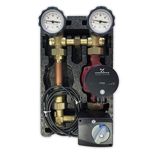 Oventrop Pumpengruppe m. Stellmotor Mischer Hocheffizientzpumpe Grundfos Alpha 2L 25 40 180 Regumat M3-180 Anbindesystem DN25