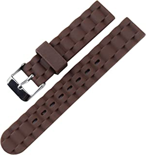 KHZBS Girl Fashion Soft Silicone Watch Strap Waterproof Sports Color Watch Band 16mm