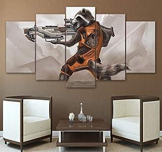 yiyitop 5 murales de Impresiones en HD de los Carteles de Lona Galaxy Rocket Raccoon Guardian e Imprime Pinturas Modernas de la Sala de Estar