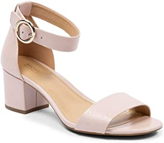 Michael Michael Kors Womens Lena Flex Mid Leather Open Toe, Soft Pink, Size 6.0