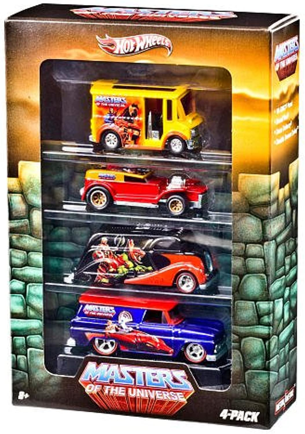 Hot Wheels Nostalgia Series Vehicle 4Pack  HOT WHEELS MASTERS OF THE UNIVERSE DIE CAST COLLECTORS SET OF 4