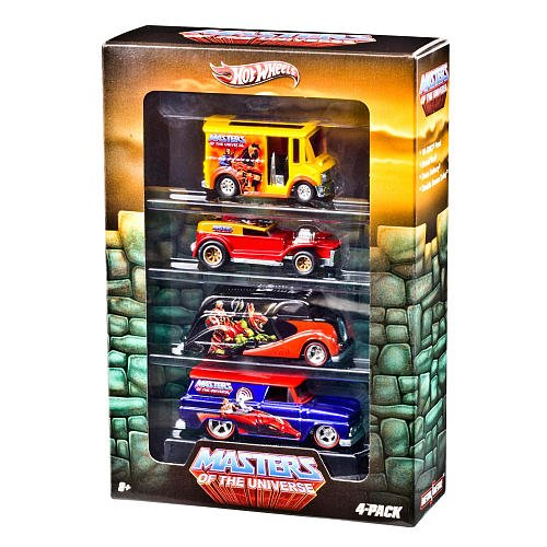 Hot Wheels Nostalgia Series Vehicle 4-Pack - HOT WHEELS MASTERS OF THE UNIVERSE DIE CAST COLLECTORS SET OF 4
