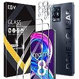 EGV Compatibile con Realme 8 Pro Protector de Pantalla,2 Pack Cristal Templado e 2 Pack Protector de Lente de Cámara