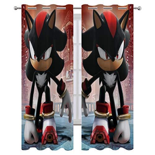Shadow the Hedgehog - Cortinas opacas para cortinas opacas (214 x 214 cm)