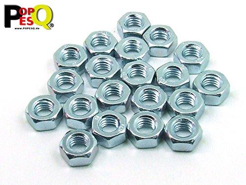 POPESQ/® Zinc #A1895 x M8 Tuerca//Nut Acero Galvanizado Steel 10 Piezas//pcs