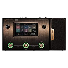 240+ Built-in Guitar/Bass/Acoustic Effects with 64 Legendary Amp Models and 60 carefully selected IR Cabinet Simulations, 24-bit signal processing, up to 120dB S/N ratio 100 Built-in Drum Rhythms and 100 Seconds Looper, 198 Presets, Adjustable Signal...