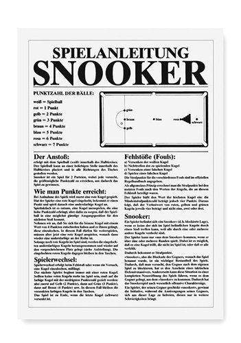 Spielanleitung für Snooker