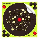 JingZhouYang Shooting Targets 7.7 Inch Self Adhesive Paper Reactive Splatter Targets Stickers 100 & 75 & 50 &20 Pack for Gun Rifle Pistol Bb Gun Airsoft Pellet Gun Air Rifle