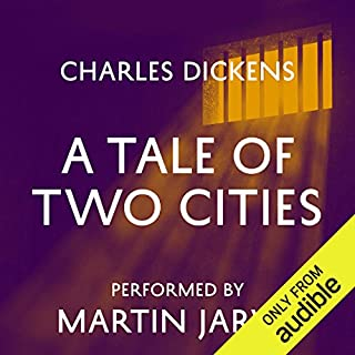 A Tale of Two Cities                   By:                                                                                                                                 Charles Dickens                               Narrated by:                                                                                                                                 Martin Jarvis                      Length: 14 hrs and 18 mins     824 ratings     Overall 4.5