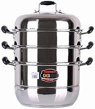 LJBH Soup Pot 28cm/30cm/32cm 4 Layer Steamer Soup Pot Dual-use 304 Stainless Steel Soup Pot Steamer Multi-function Soup Po...