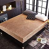 YDyun Protector de colchón, algodón, poliéster, Estampado en Relieve 5D de una Sola Pieza