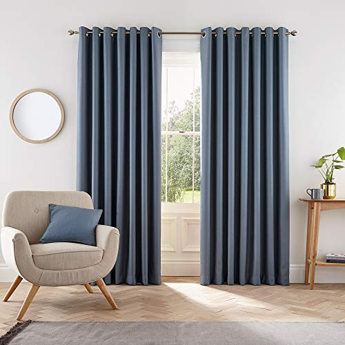 Helena Springfield London Eden Vorhänge, Polyester, Blau, 228 x 137 cm