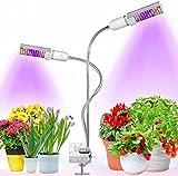 Bozily Lampe de Plante, UV Spectre Complet 88 LED, Double E27 Ampoule Remplaçable, Lampe de Croissance 45W, pour Plante Horticole, Fleur et Légume
