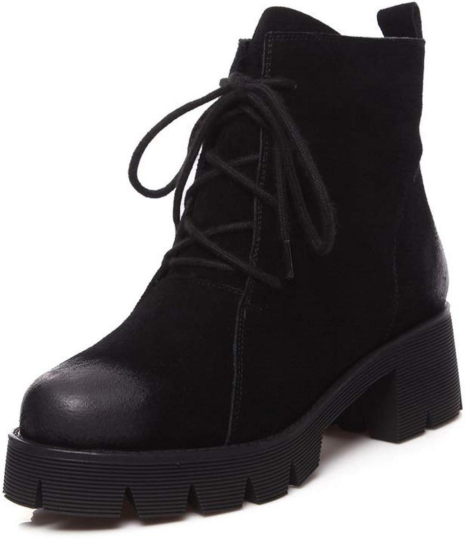 AdeeSu Womens Fashion Nubuck Platform Urethane Boots SXE04284