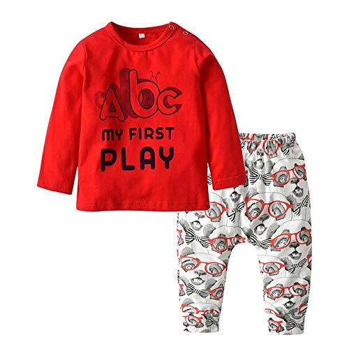 2 Pcs Born Toddler Baby Boy Clothes Set Long Sleeve Letter Like A Boss T-Shirt Pants Infant Clothing Set Kids Toddler Outfits
