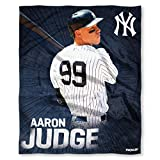 MLB New York Yankees Aaron Judge Players HD Silk Touch Throw Blanketplayers HD Silk Touch Throw Blanket, Blue, One Size