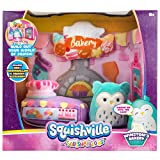 """Squishville by Squishmallow Bakery Play Scene, 2"""" Winston Soft Mini-Squishmallow, 8"""" Playset, 1 Plush Accessory, Marshmallow-Soft Animals, Bakery Toy"""