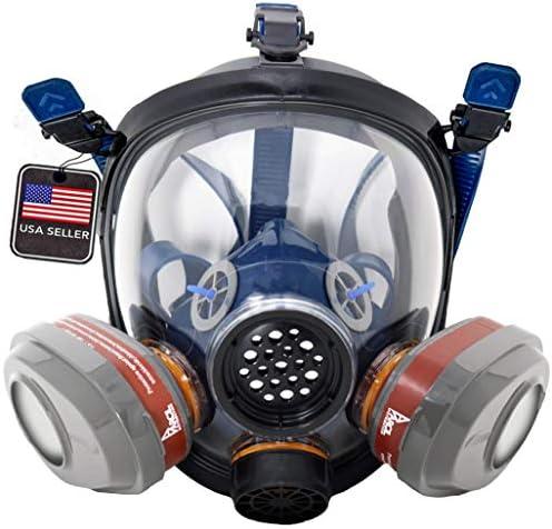 PT 101 Full Face Gas Mask Organic Vapor Respirator ASTM Tested 1 Year Full Manufacturer Warranty product image