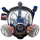 PT-101 Full Face Gas Mask & Organic Vapor Respirator- ASTM Tested - 1 Year Full Manufacturer Warranty - Eye Protection by Parcil Distribution