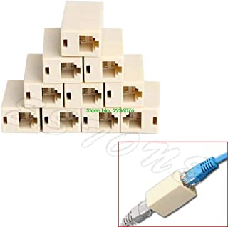 Paul My 10pcs RJ45 CAT5 Coupler Plug Network LAN Cable Extender Connector Adapter New Drop Shipping Support 100% New