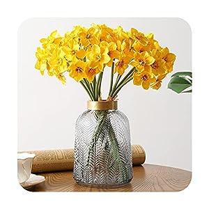 Silk Flower Arrangements F-pump 6Pcs Artificial Narcissus Flower Photo Props Flower Arrangement Wedding Office Room Window Decoration Fake Flowers Wedding-1
