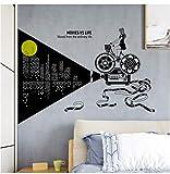 xingtuwaimao Kreative Poster Wandaufkleber Selbstklebende Schlafzimmer Zubehör Wand Paste Malerei Kino Wandtattoos Persönliche Vorraum Wandbild