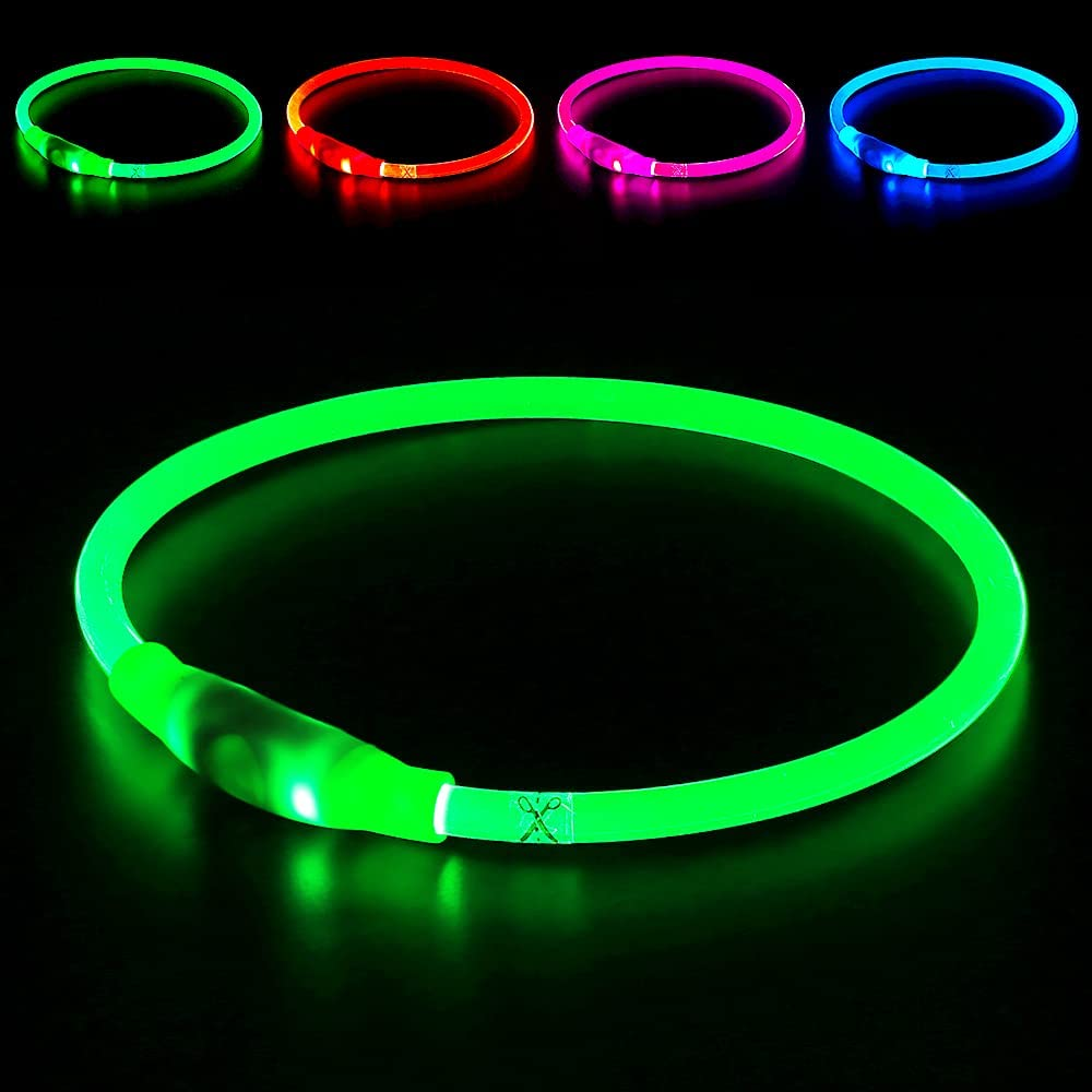 BSEEN LED Dog Sales Collar New color USB Glowing Pet f Rechargeable