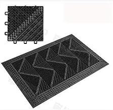 MZH Carpet Rug Plastic Entrance Mat Barrier Heavy Duty Indoor Outdoor Rubber Drainage Entrance Mat Anti-Slip, Hardwearing ...