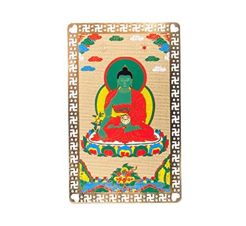 DMtse Feng Shui Medicine Buda Salud Talismán Tarjeta