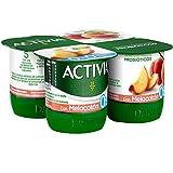 Activia Yogur 0% con Melocotón, 4 x 120g