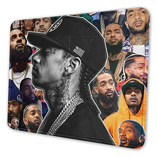 Nip-Sey H-Ussle Mouse Pad with Stitched Edge,Mouse Mat,Non-Slip Rubber Base Mousepad for Laptop,Desk Mat,Computer & Pc 7.9 X 9.5 in