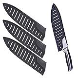 Bestonzon, 3 protezioni per lame, per coltelli da cucina da 8 pollici, colore nero