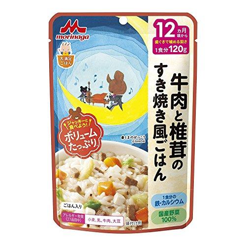 森永乳業 大満足ごはん 牛肉と椎茸のすき焼き風ごはん 袋120g