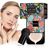BB Cream, CC Creme, Líquida Fundación, Mushroom Head Air Cushion BB Cream, Ocultador, Base de Maquillaje, Maquillaje de Larga Duración, Hidratante Corrector Permeable al aire Brillo natural
