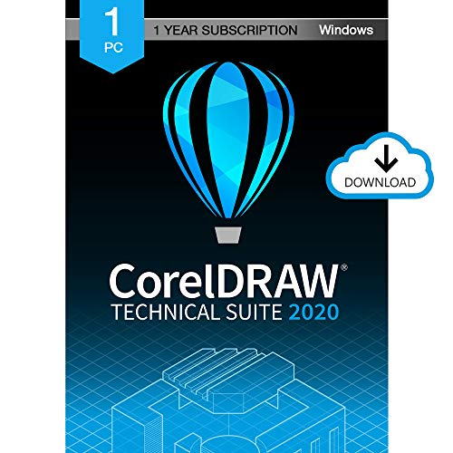 CorelDRAW Technical Suite 2020 | Technical Illustration & Drafting Software | 1-Year Subscription [PC Download]