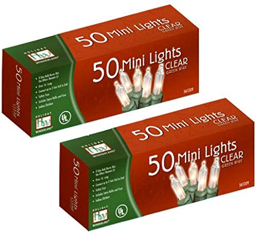 Noma/Inliten 50-Count Clear Christmas Light Set (2pack)