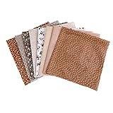 HEALLILY 8 Pezzi 50 Cm Tessuto di Cotone Patchwork Lenzuolo Pezzo di Stoffa per Artigianato Fai da Te Cucito Scrapbooking Quilting Fasce Artigianali Fabbricazione (Caffè)