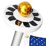 Mekar 30 LED Solar Flag Pole Lights Flagpole Downlight Long Lasting Lighting Night