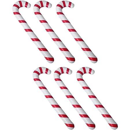 Decorazioni Natalizie Caramelle.Toyvian 6 Pz Bastoncini Natale Bastone Gonfiabile Caramelle A Spirale Per Decorazioni Albero Di Natale Ghirlanda Natale Ornamento Appendere Amazon It Casa E Cucina