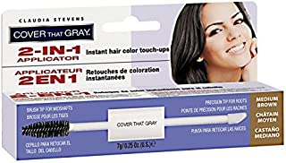 Cover That Gray 2in1 Applicator Hair Color Touchups - Medium Brown