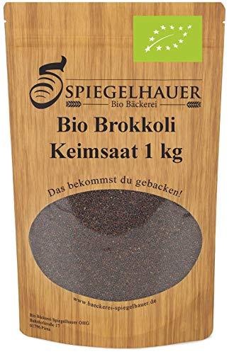 Bio Brokkoli Keimsaat - Brokkolisamen für die Zucht von Brokkolisprossen - der natürliche Energiespender - lecker in Salaten - Inhalt: 1 kg Brokkoli Samen