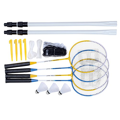 Toyrific Baseline 4Spieler Badminton-Set