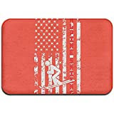 Odelia Palmer Bandera Americana de los EE. UU. Esquí Alpino Esterilla Interior/Exterior para Muebles para el hogar Cocina