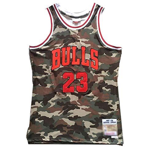 CHSC #23 Michael Fan Jersey, Bulls Camouflage Version, God of Basketball, Mesh-Top, Level Westen, T-Shirt, Präzisions-Stickerei, Herren Jungen - Sportgeschenk Gr. S, a
