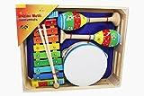 Kinder Musik Instrumente Set Xylophon/Glockenspiel, Tamburin und Rasseln - 3878
