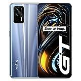 realme GT 5G Smartphone 8GB 128GB, 120Hz AMOLED a schermo intero, Snapdragon 888 5G, batteria da 4500mAh, tripla fotocamera da 64MP, versione Global, presa EU, Argento scintillante