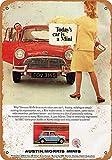 OURTrade 8 x 12 Tin Metal Sign - Vintage Look 1966 Austin Morris Mini