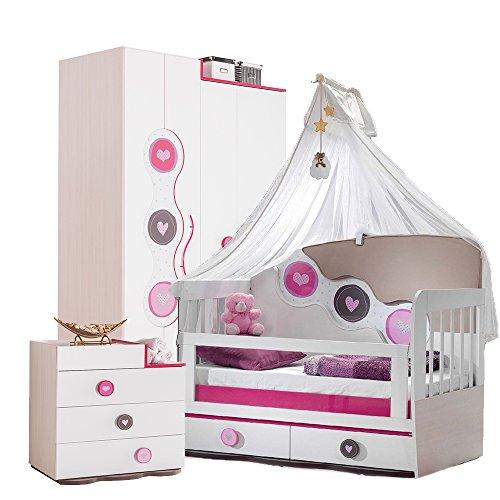 Mitwachsendes Babyzimmer, Babymöbel, Kinderzimmermöbel, Kinderzimmer, Möbel (Point kleines Bett)